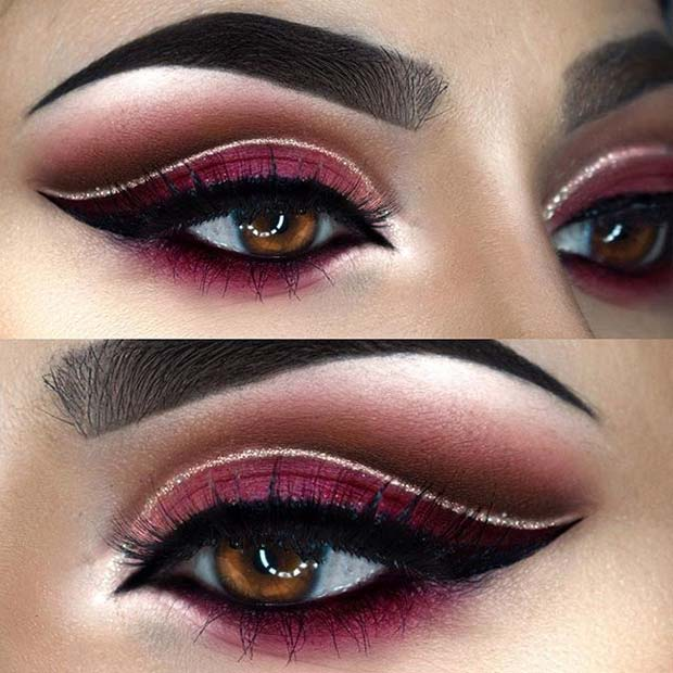 Güzel Burgundy Eye Makeup for Fall Makeup Looks