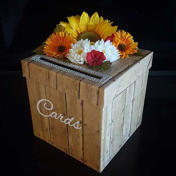 Pad Floral Card Box for Fall Wedding Ideas