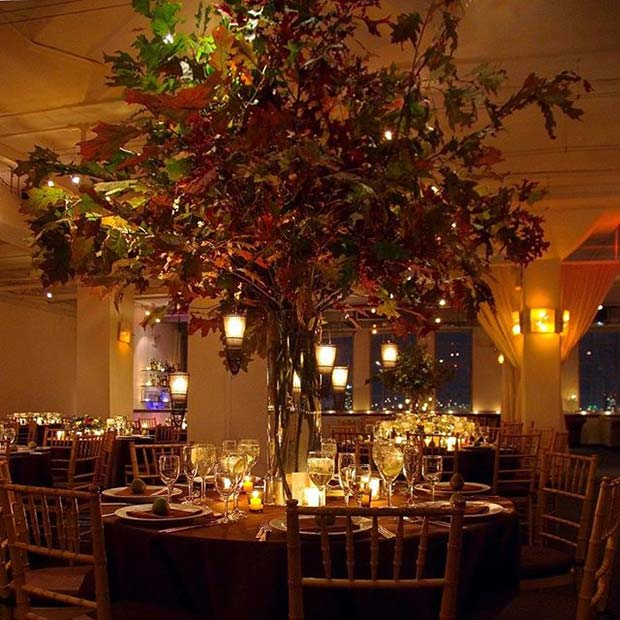 Pad Tree Wedding Decor for Fall Wedding Ideas