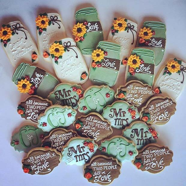 Pad Theme Wedding Cookies for Fall Wedding Ideas