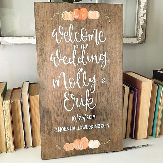 seljački Fall Wedding Sign for Fall Wedding Ideas