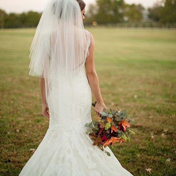 Pad Bridal Look for Fall Wedding Ideas