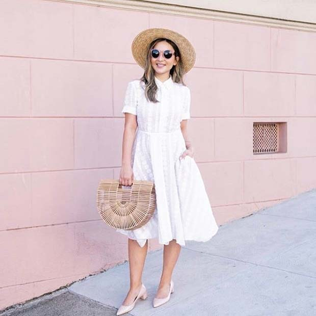 бео Dress for Spring 2017 Women's Outfit Idea