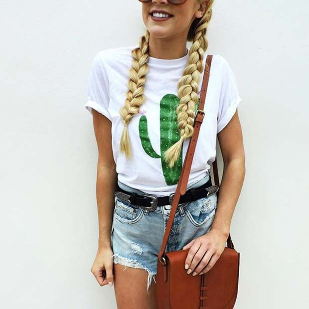 Слатко Cactus T-shirt for Spring 2017 Women's Outfit Idea