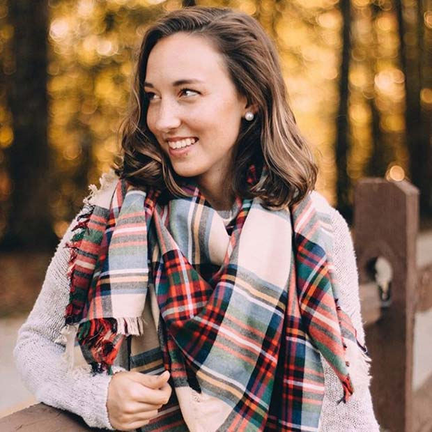 Фланел Scarf for Flannel Outfit Ideas for Fall