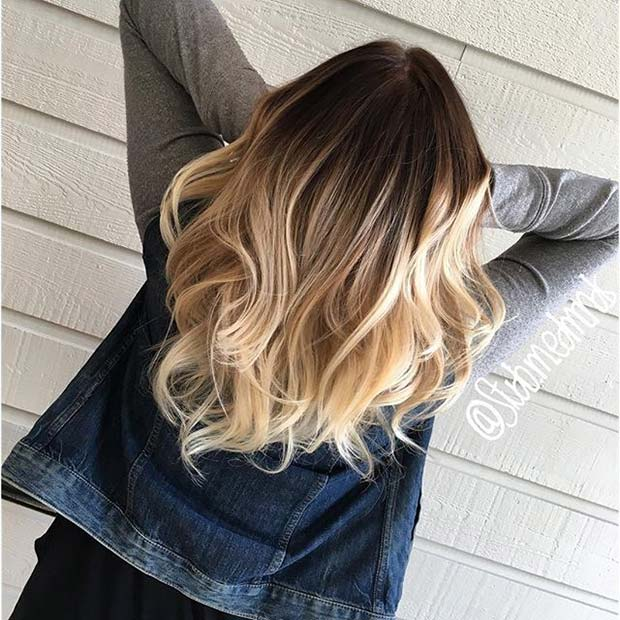 Plavuša Ombre Idea for Brunette Hair