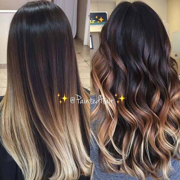 Čokolada Brunette and Blonde Ombre Idea