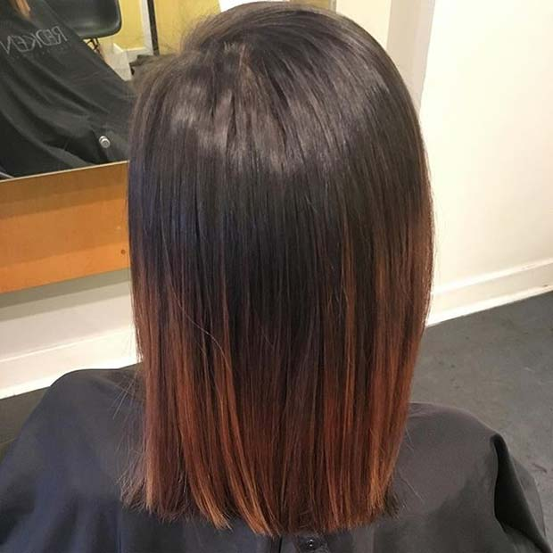 mrak Caramel Short Ombre Hair for Brunettes