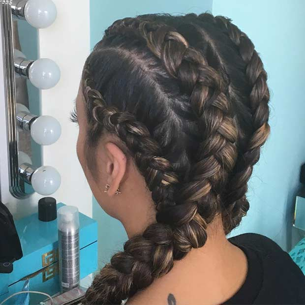 Karamel Cornrows with Extensions