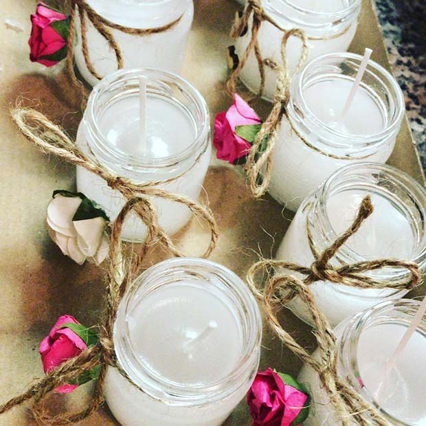 Floral Candles for a Spring Wedding