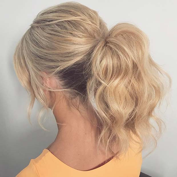 लहरदार Ponytail Updo for Prom