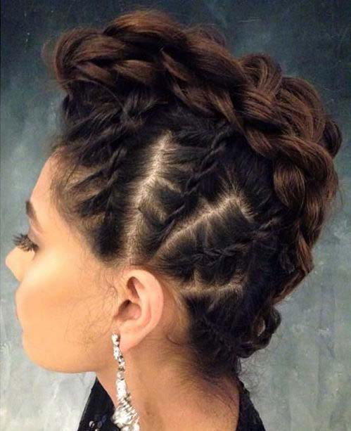 लट में Mohawk for Prom Updo Idea