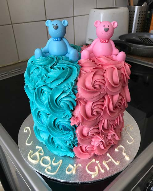 प्यारी, Blue and Pink Gender Reveal Cake
