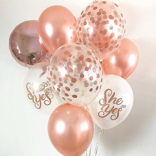 O Said Yes Party Balloons