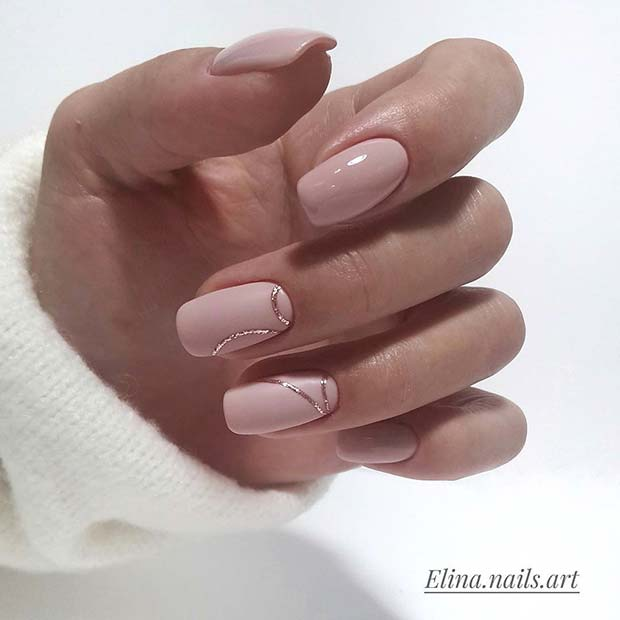 Zarif Nude Prom Nails