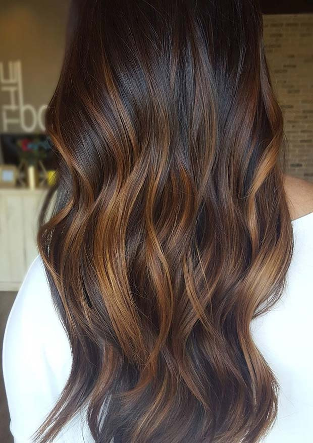 fin Fall Balayage for Brunettes