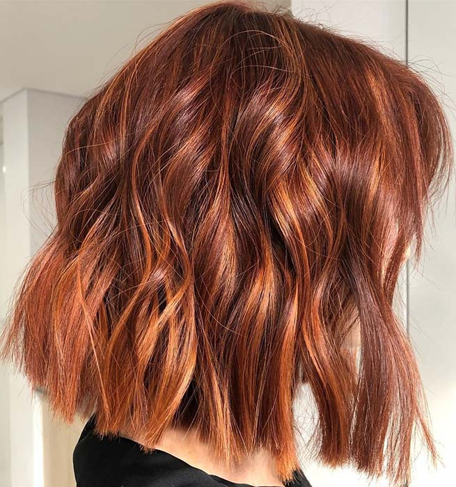 Bakar Fall Hair Color Idea + Bob Cut
