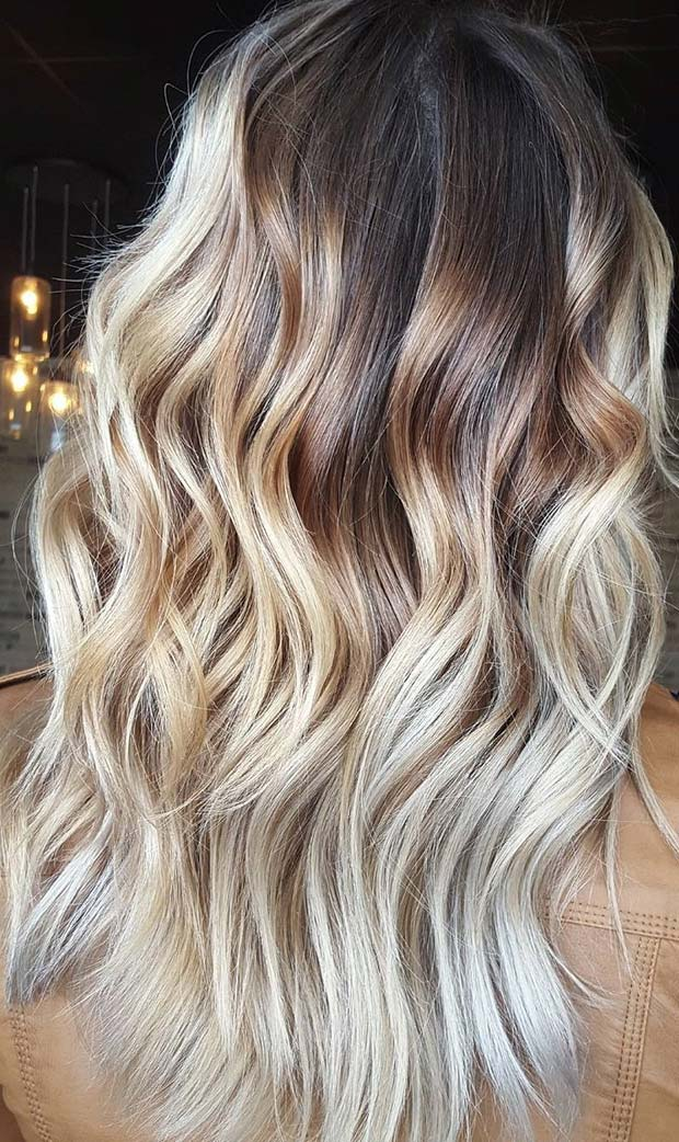 Cool, Icy Blonde Balayage