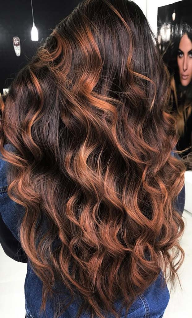 Karamela Balayage Idea for Brunettes