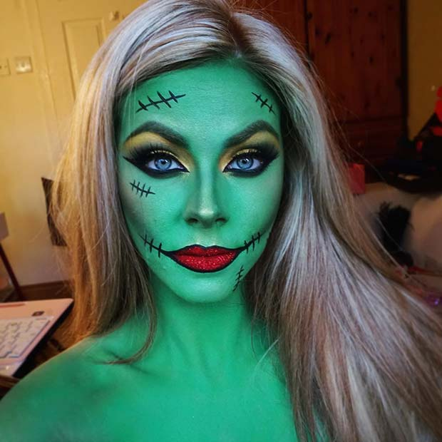 Frankenstein Inspired Makeup for Best Halloween Makeup Ideas