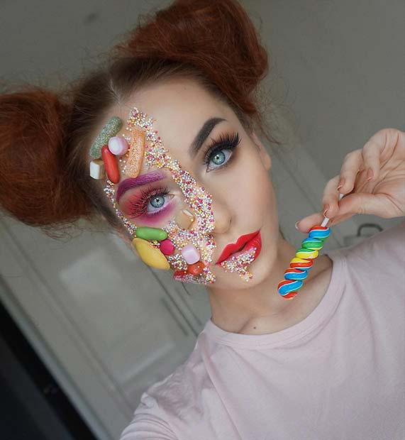 creator Candy Makeup for Best Halloween Makeup Ideas