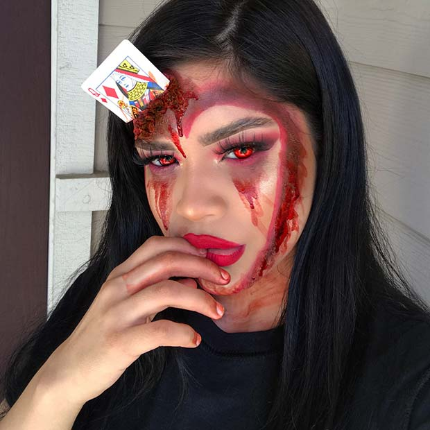 Macabru Card Makeup for Best Halloween Makeup Ideas