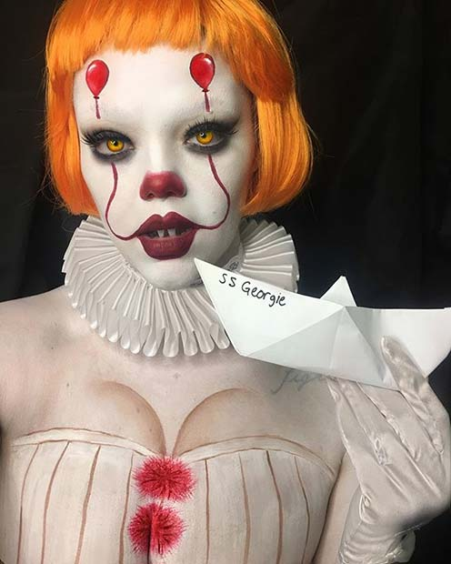 Infricosator IT Clown for Best Halloween Makeup Ideas
