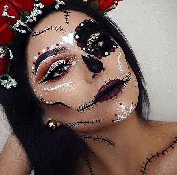 Zahăr Skull Makeup for Best Halloween Makeup Ideas