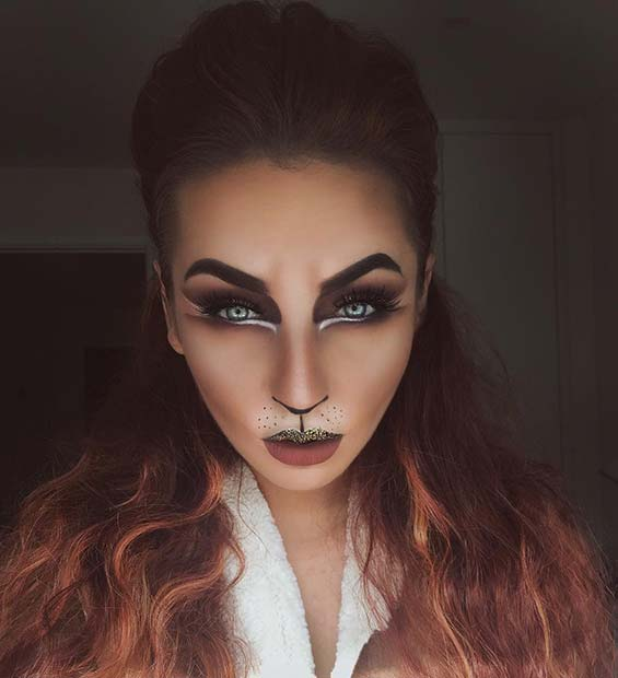 Sălbatic Lion Makeup for Best Halloween Makeup Ideas