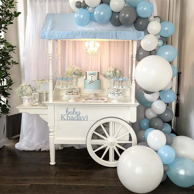 תִינוֹק Shower Dessert Cart Idea