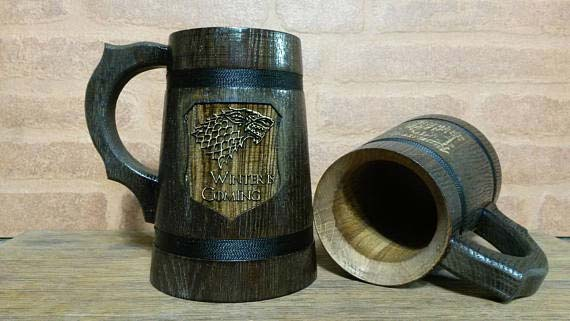 खेल of Thrones Wooden Beer Mug