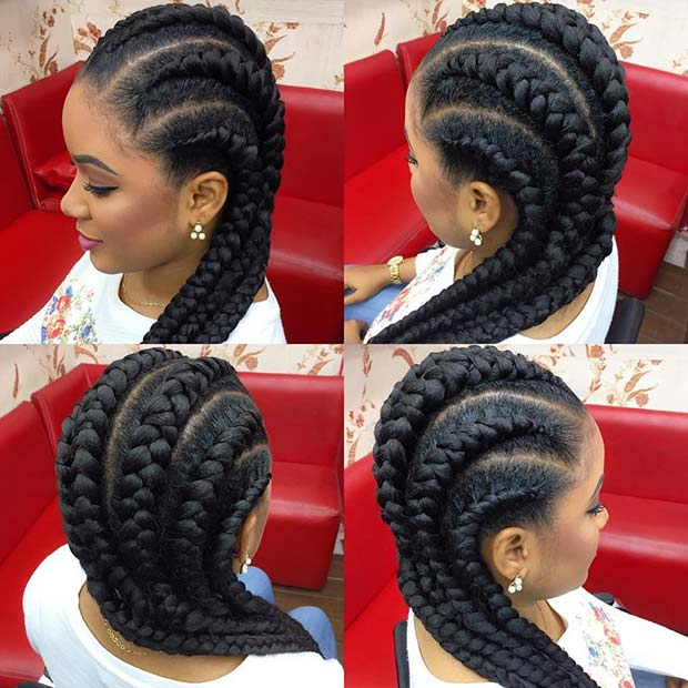 צ'אנקי Feed in Cornrows