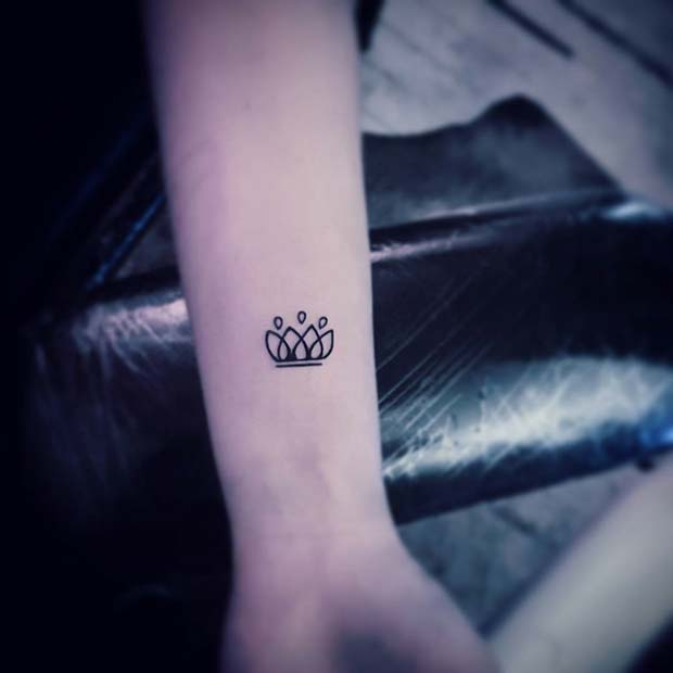 เล็ก Black Ink Creative Crown Idea for Women