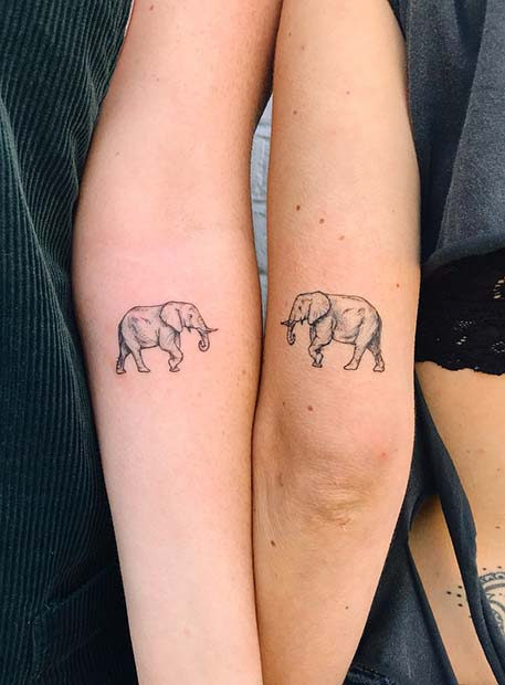 श्रेष्ठ Friend Elephant Tattoo Idea