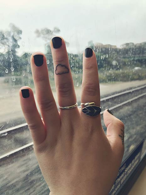 Majhna Cloud Finger Tattoo for Women