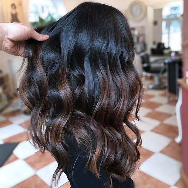 ब्राउन, Chocolate Highlights for Dark Brown Hair