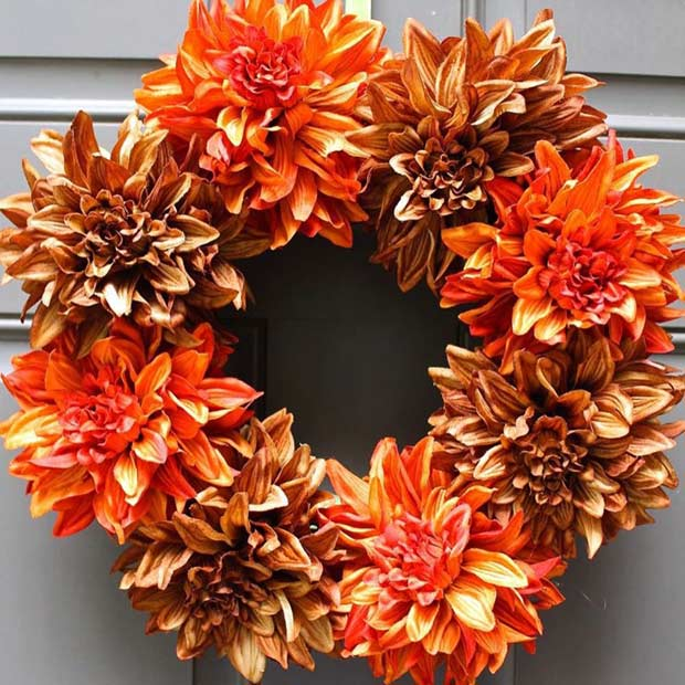 Uşor DIY Thanksgiving Wreath