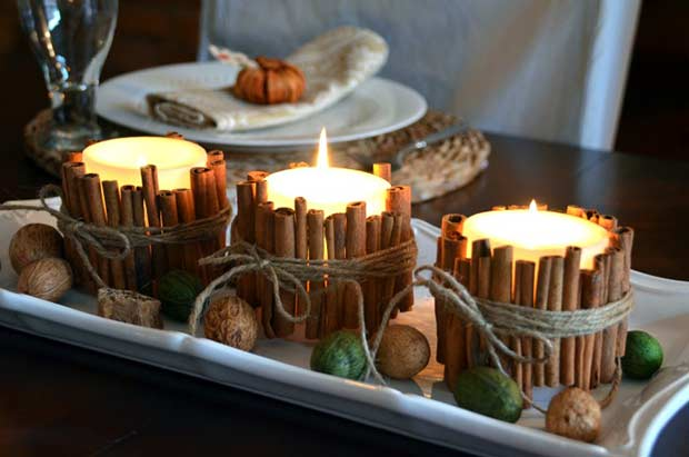 Scorţişoară Stick Candles Easy DIY Thanksgiving Decor