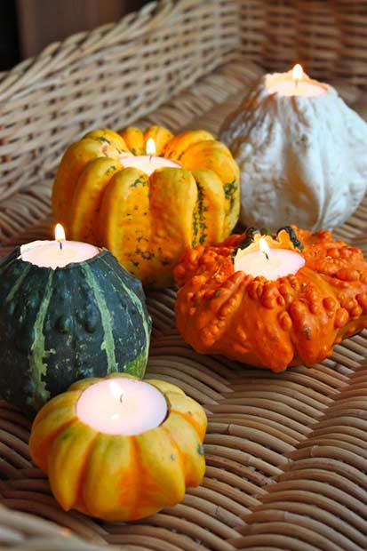 Dovleac Candle Holders Thanksgiving DIY Decor