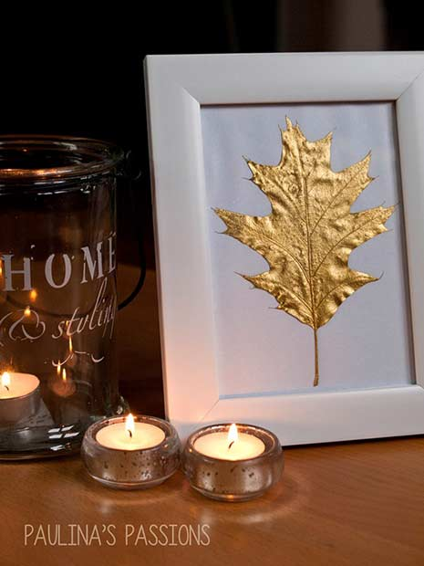 De aur Leaf Thanksgiving DIY Decor
