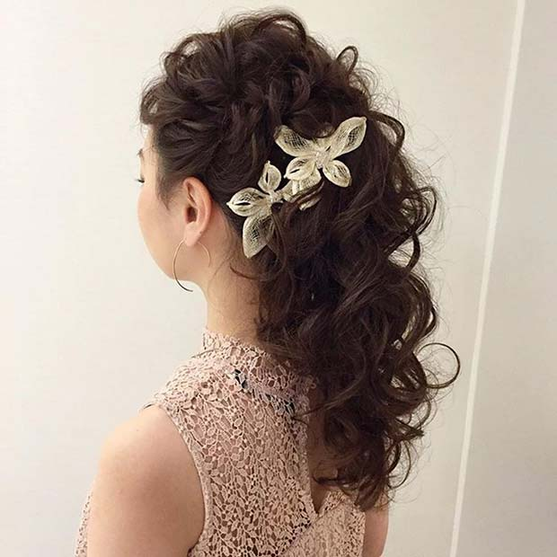 uvijen Updo with Accessory for Bridesmaid Hair Ideas