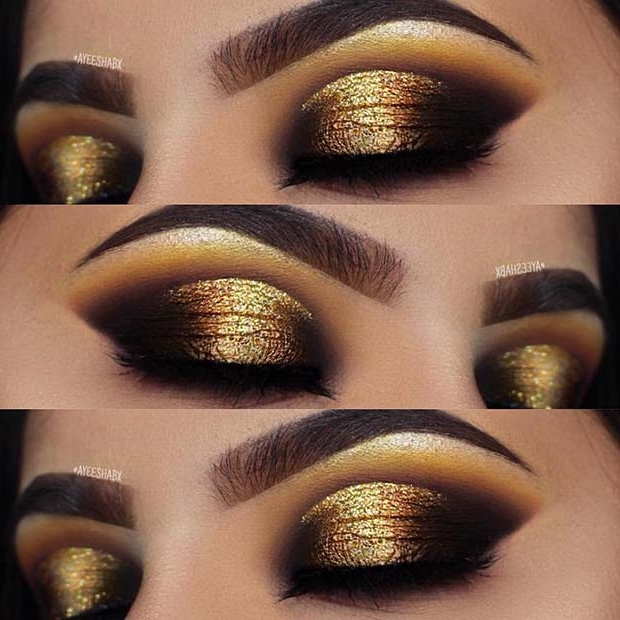 הַברָקָה Gold Eye Makeup Look
