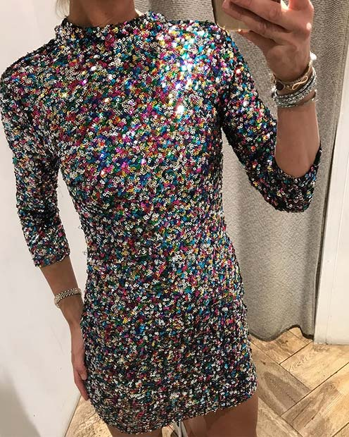 Živahen Sequin Dress