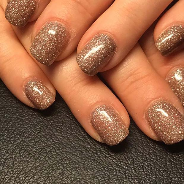 Minden Over Glitter Nail Manicure for Glitter Nail Design Ideas