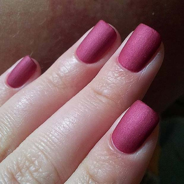 Mörk Pink Matte Nails for Matte Nail Designs for Fall