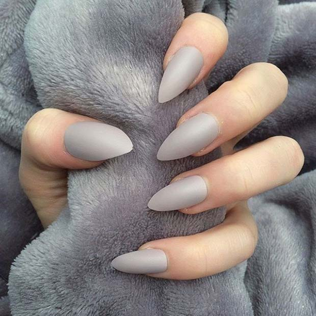 Chic Grey Matte Nails for Matte Nail Designs for Fall