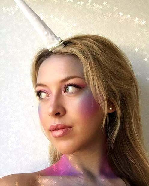 प्यारा Unicorn Makeup for Pretty Halloween Makeup Ideas