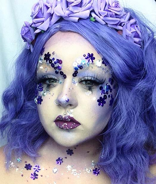 फूल Fairy Makeup for Pretty Halloween Makeup Ideas