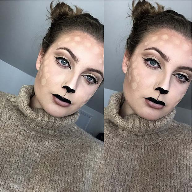 हिरन Makeup for Pretty Halloween Makeup Ideas