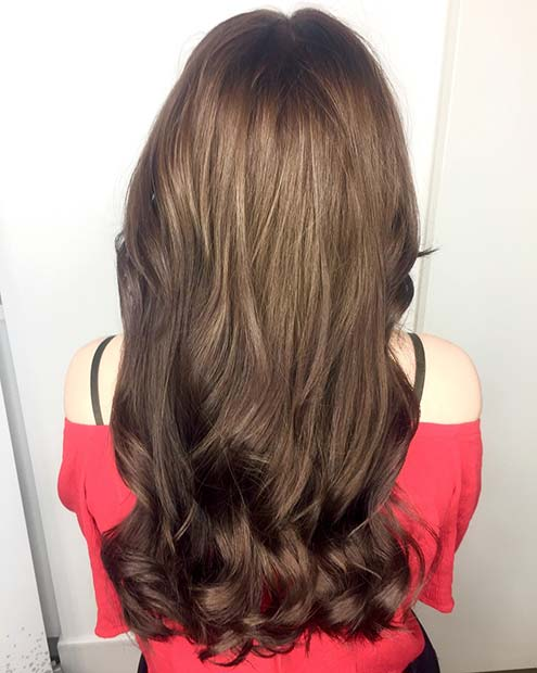 Обрнуто Brunette Balayage Hair